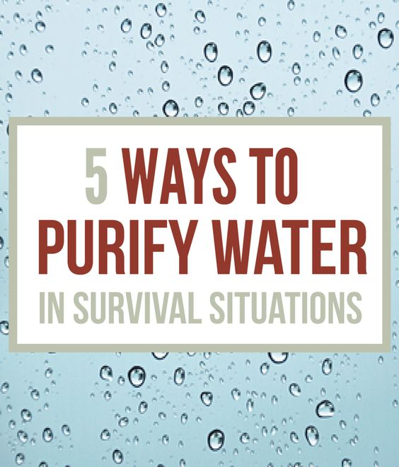 Disaster Survival Skills: Survival Water Purification