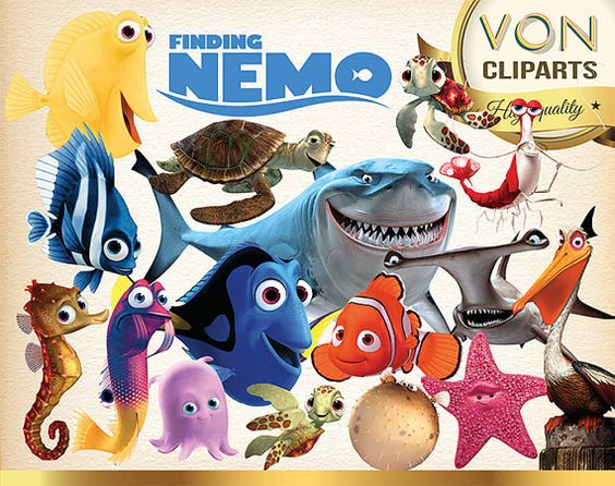 35 Finding Nemo Clipart PNG Disney Finding Nemo by VonClipArts ...