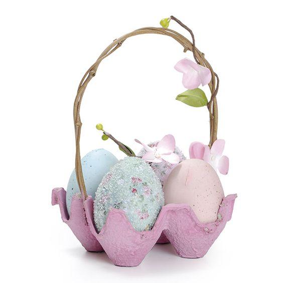 Cesta de Ovos para decoração de Páscoa.: