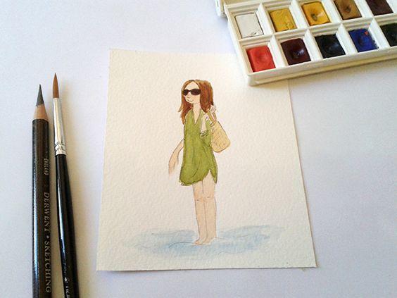 Manhã de aquarela. Para começar bem o dia! #watercolor