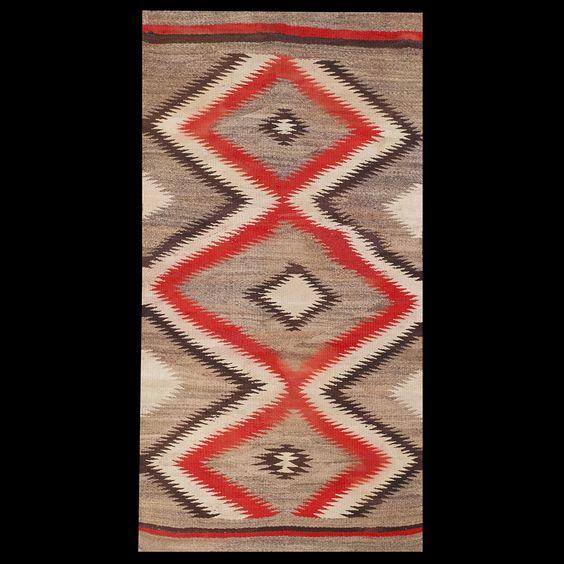 #antique #Navajo #rug. Stock Id: #21627 General Rug Type:      American Specific Rug Type:      Navajo Circa: 1910 Color: Grey Origin: America Width: 3' 10'' ( 116.8 cm ) Length: 7' 4'' ( 223.5 cm )