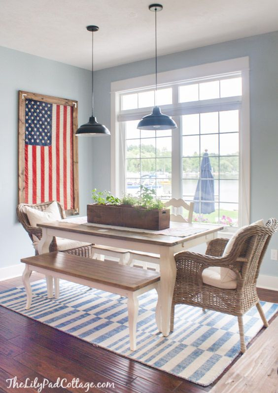 Framed Flag Kitchen Decor by The Lilypad Cottage: