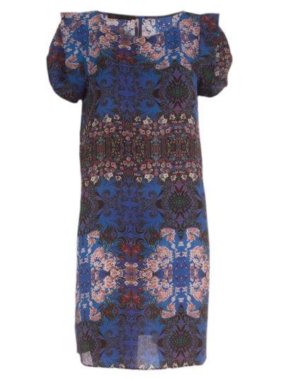 MOB Vestido Azul Estampado.