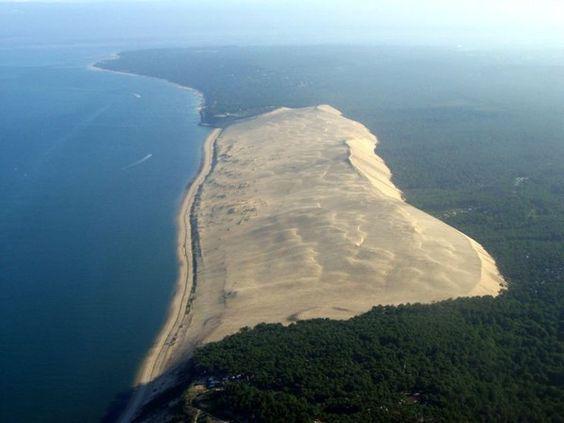 La dune du Pilat vue du ciel - les Landes France