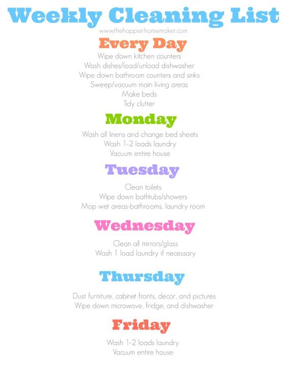 Do you need help with cleaning? Hereu0027s a daily cleaning schedule - house cleaning resume