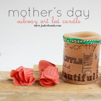 DIY MOTHER'S DAY GIFT: SUBWAY ART CANDLE:  PLUS CRAFT ATTITUDE GIVEAWAY www.jaderbomb.com