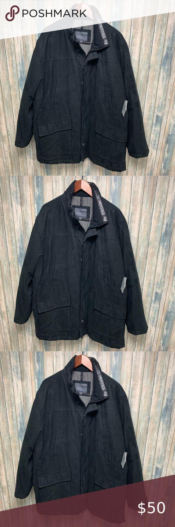 Covington Men S Jacket Sz Xl Microsuede New Clothes Design Jackets Microsuede [ 1692 x 564 Pixel ]