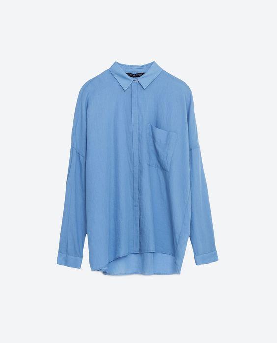 FADED COTTON SHIRT-Shirts-TOPS-WOMAN   ZARA United States