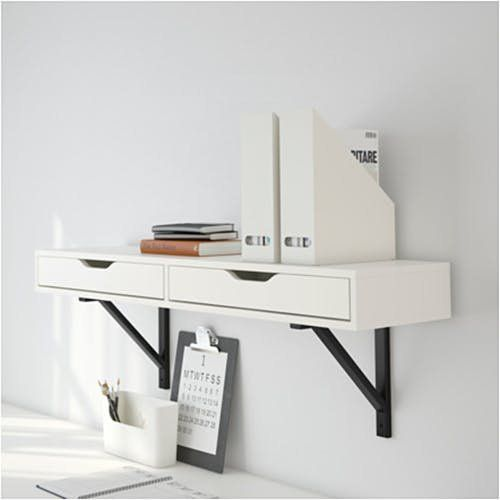 8 Pictures That Prove Ikea S Ekby Alex Is The Sleekest Storage Around Drawer Shelves Ikea Ekby Wall Mounted Desk