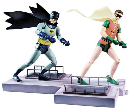 Figuras de acción de la serie de TV de Batman de 1966 #lotraigoconFlybox @Anne / La Farme Hale Earth.