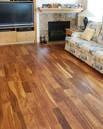 Menards hand scraped acacia engineered hardwood for Hardwood floors menards