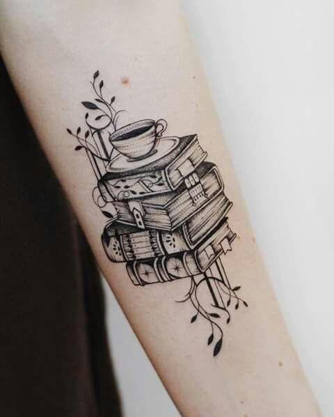 Books And Coffee Tattooideas Booktattoo Bookish Tattoos Tattoos Trendy Tattoos