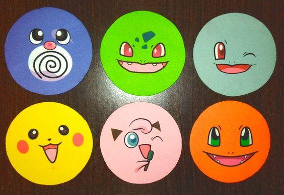 6 Porta-Copos Pokemon Emborrachados