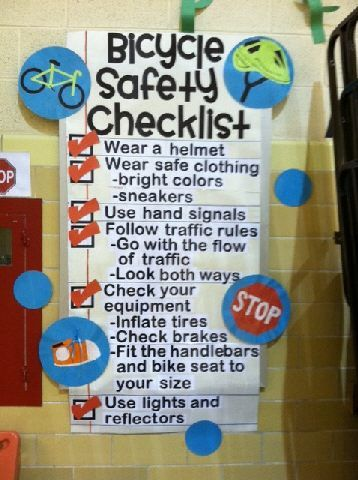Bicycle Safety Checklist Image Light Up The Night with Spoke Swag
