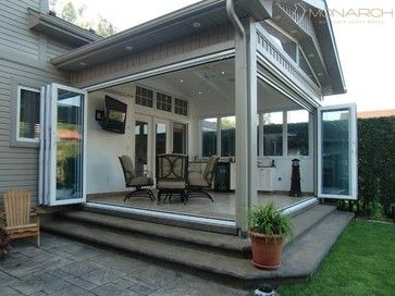 Monarch glass walls traditional patio idea for removable Opening glass walls
