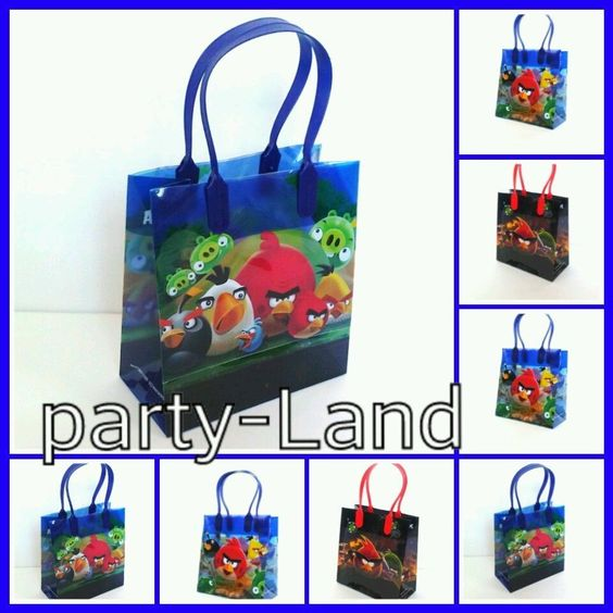 12 Disney Angry Birds Loot/Goody Candy Bags Marvel Birthday Child Multi-Color