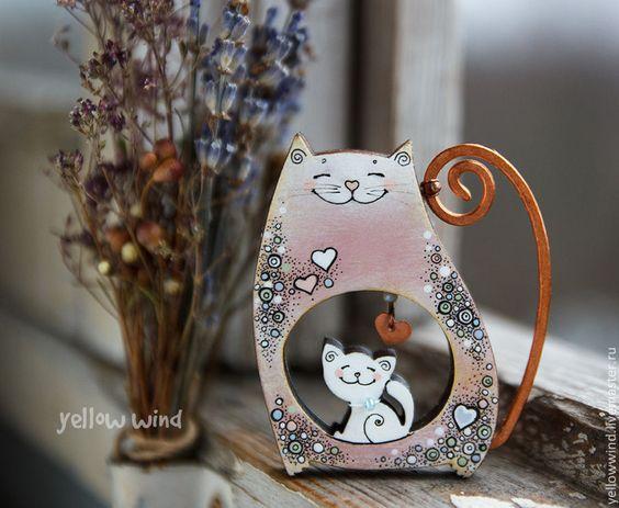 Купить брошь Rosie - кремовый, розовый, мамочке, мама и малыш, Беременность, брошь, кот, кошка: