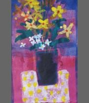 Studio Flowers I by Francis Boag on display at Heinzel Gallery, Aberdeen