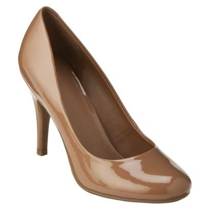 """Target women's pearce pump. Very comfy. I puirchased a camel (nude) pair and these (beach patent) .  Hope these are the """"my skin tone nude"""" shoes I've been looking for."""