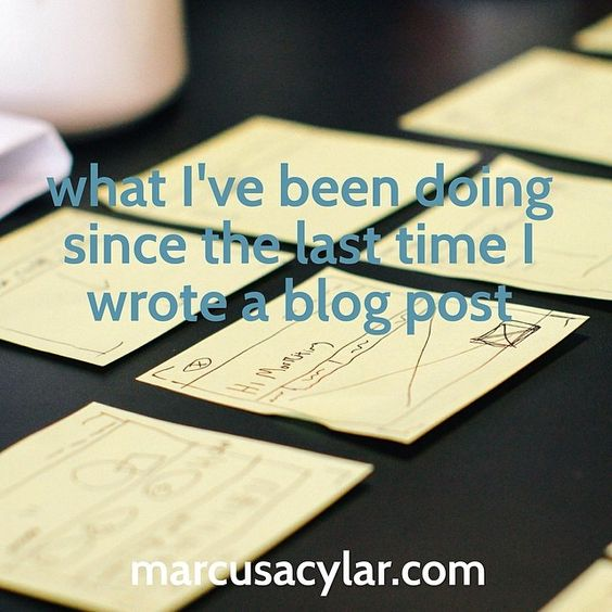 What I've been doing since the last time I wrote a blog post