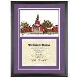Texas Christian University Diploma Frame with TCU Lithograph Art PrintBy Old School Diploma Frame Co.