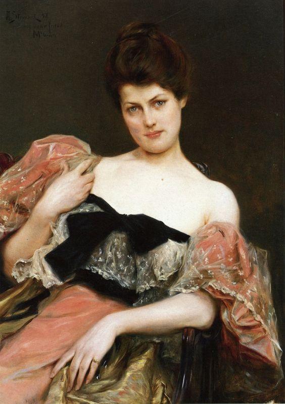 Julius LeBlanc Stewart - Portrait of a Lady, 1892