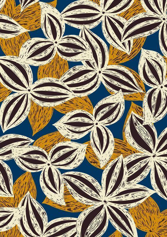 Floral Pattern Afrikanische Muster Stoff Design Afrikanische Stoffe