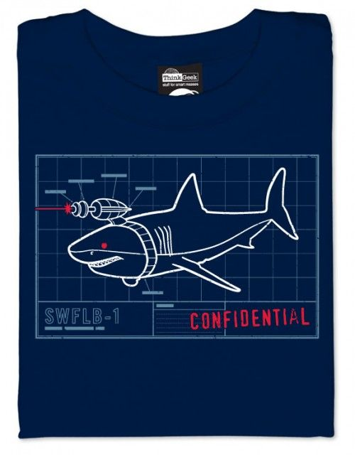 Shark With Frickin 39 Laser Beam Prototype Schematic T Shirt