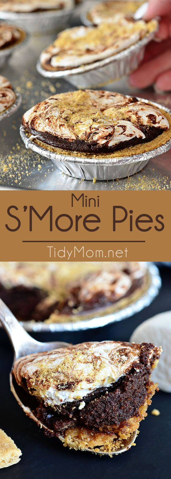 Mini S'more Pies are the perfect dessert for entertaining or snacking. It's one…