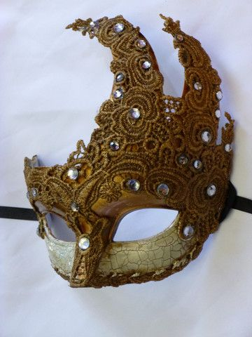 Antiqued Mardi Gras Mask: