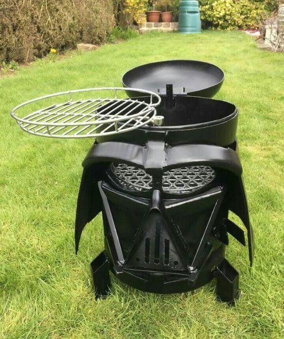 20 Star Wars Home Interior Design Items For The Ultimate Fan Notilizer Starwars Darthvader Grill In 2020 Darth Vader Fire Pit War Stars
