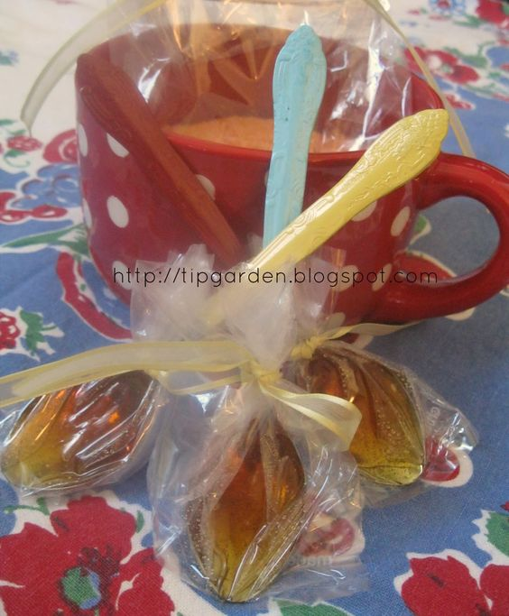 Honey Lemon Spoons: A twist on the traditional Chocolate Spoons, these are cute in a Tea Basket or for a sick friend.