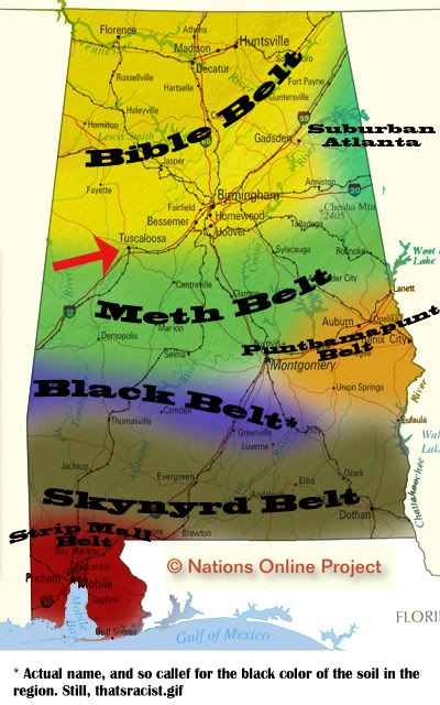 Map Of East Central Alabama Heritage Belts Of Alabama The Jorts - Map of northern alabama