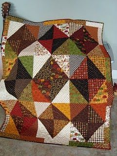 I really like this quilt... fall colors rock! (Even though it's officially spring):