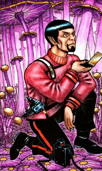 Science officer reports findings on Mushroom Planet...