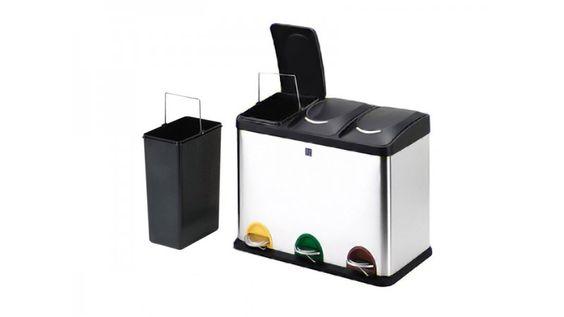 Cubo reciclaje 3 compartimentos iris reciclaje - Cubo de reciclaje ...