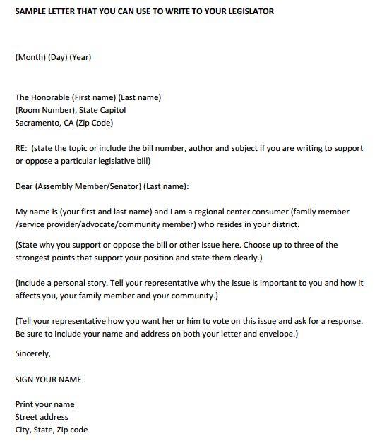 4 Letter To Representative Templates
