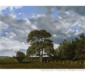 Step by Step Oil Painting Tutorial: 'The Fields Edge' by John O'Keefe Jr.
