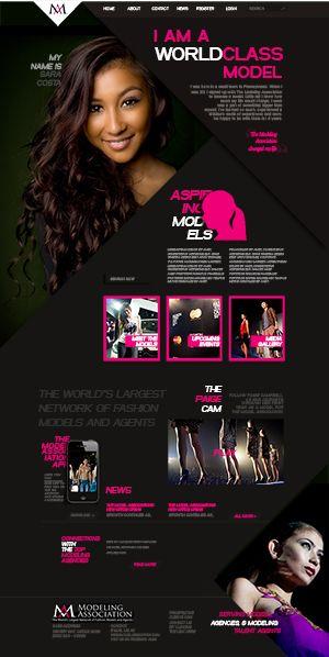 world class models - website - mockup
