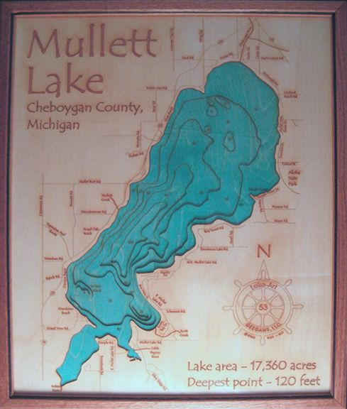 Mullett lake in cheboygan county mi cheboygan michigan for Mullett lake fishing