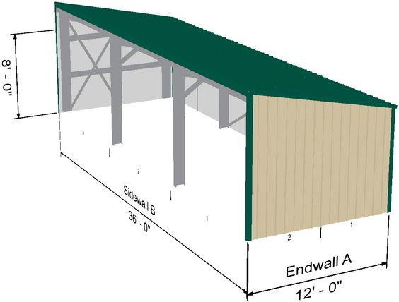 Equipment shed extension to metal building with living for Equipment shed