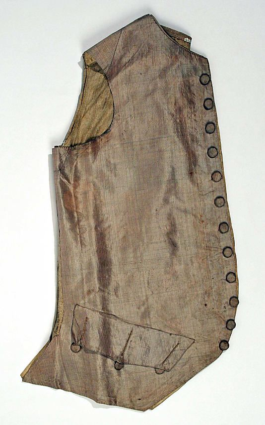 Waistcoat  Date:     18th century Culture:     American or European Medium:     silk, linen Dimensions:     [no dimensions available] Credit... Accession Number:     C.I.41.124.68