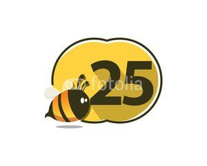 25 Number Natural Cute Bee