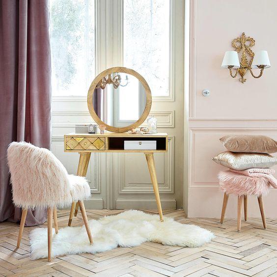 Coiffeuse 1 Tiroir En Manguier Massif Maisons Du Monde Chambre Vintage Chambres Luxueuses Chaises D Epoque
