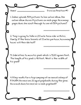 Long Division Practice Packet with 2-Digit Divisors | Worksheets ...