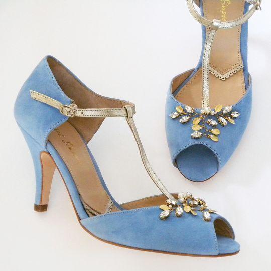 Rachel Simpson Shoes Amalia Vintage Blue Wedding Shoes Wedding