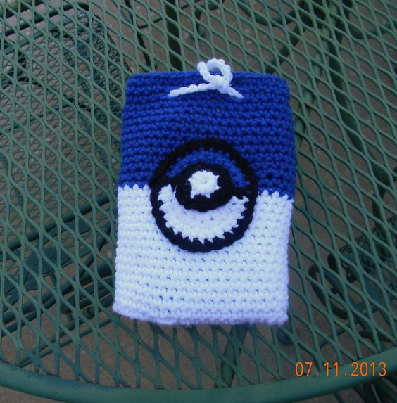 Crochet Back Bag : bag for nintendo ds, has a pocket for cartidges in the back Crochet ...