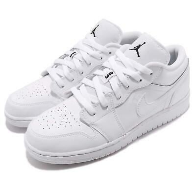 Ad Ebay Url Nike Air Jordan 1 Low Gs I Aj1 White Black Kid Women Basketball Shoes 553560 101 White Athletic Shoes Comfort Shoes Women Air Jordans