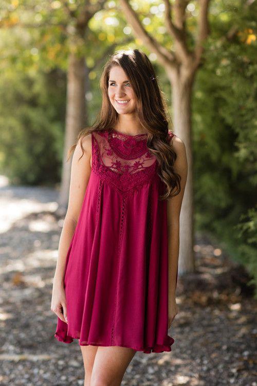 Fall Fashion, Fall Dress, Trapeze Dress, Boho Dress, OOTD- Still Got It Dress-Cranberry by Jane Divine Boutique www.janedivine.com