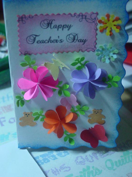 teacher's day card  my daughter's creations  pinterest